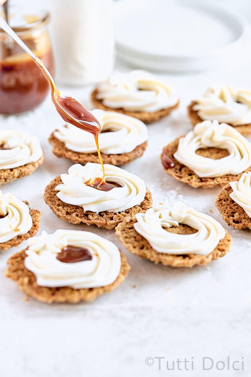 Caramel Pecan Oatmeal Creme Pies