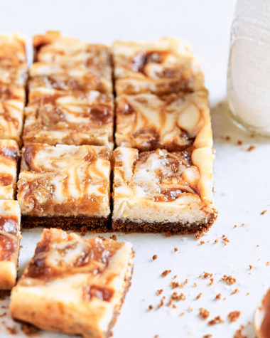 Apple Butter Biscoff Cheesecake Bars