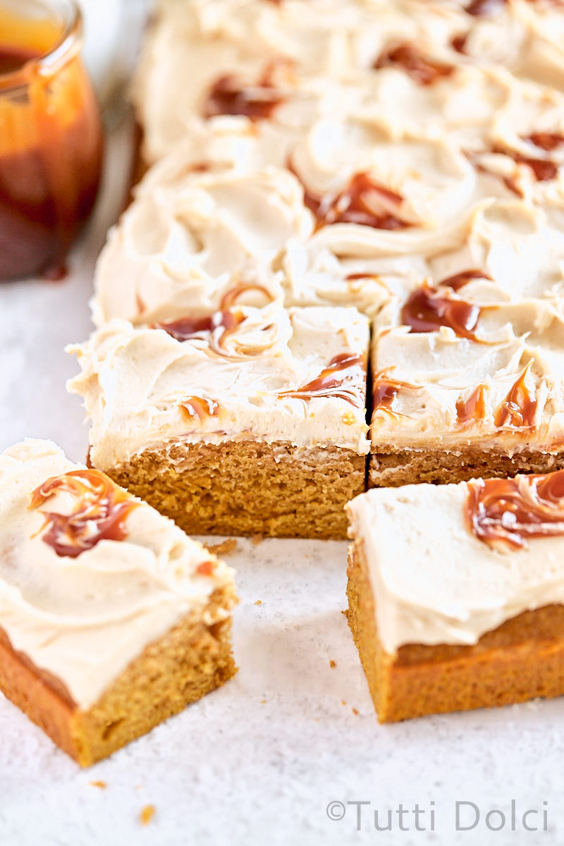 Pumpkin Caramel Sheet Cake