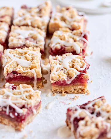 Brown Butter Strawberry Crumb Bars
