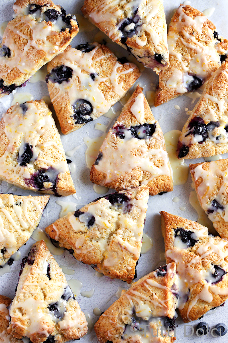 Blueberry Lemon Cream Scones