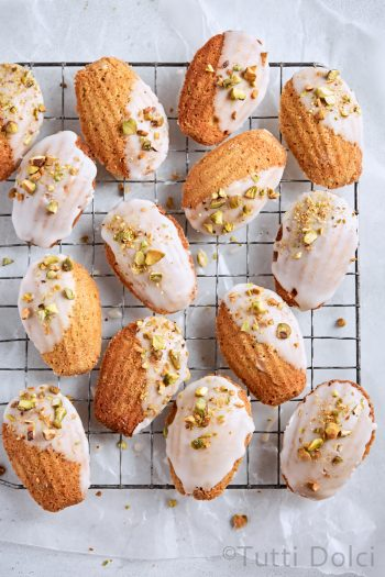 Brown Butter Pistachio Madeleines