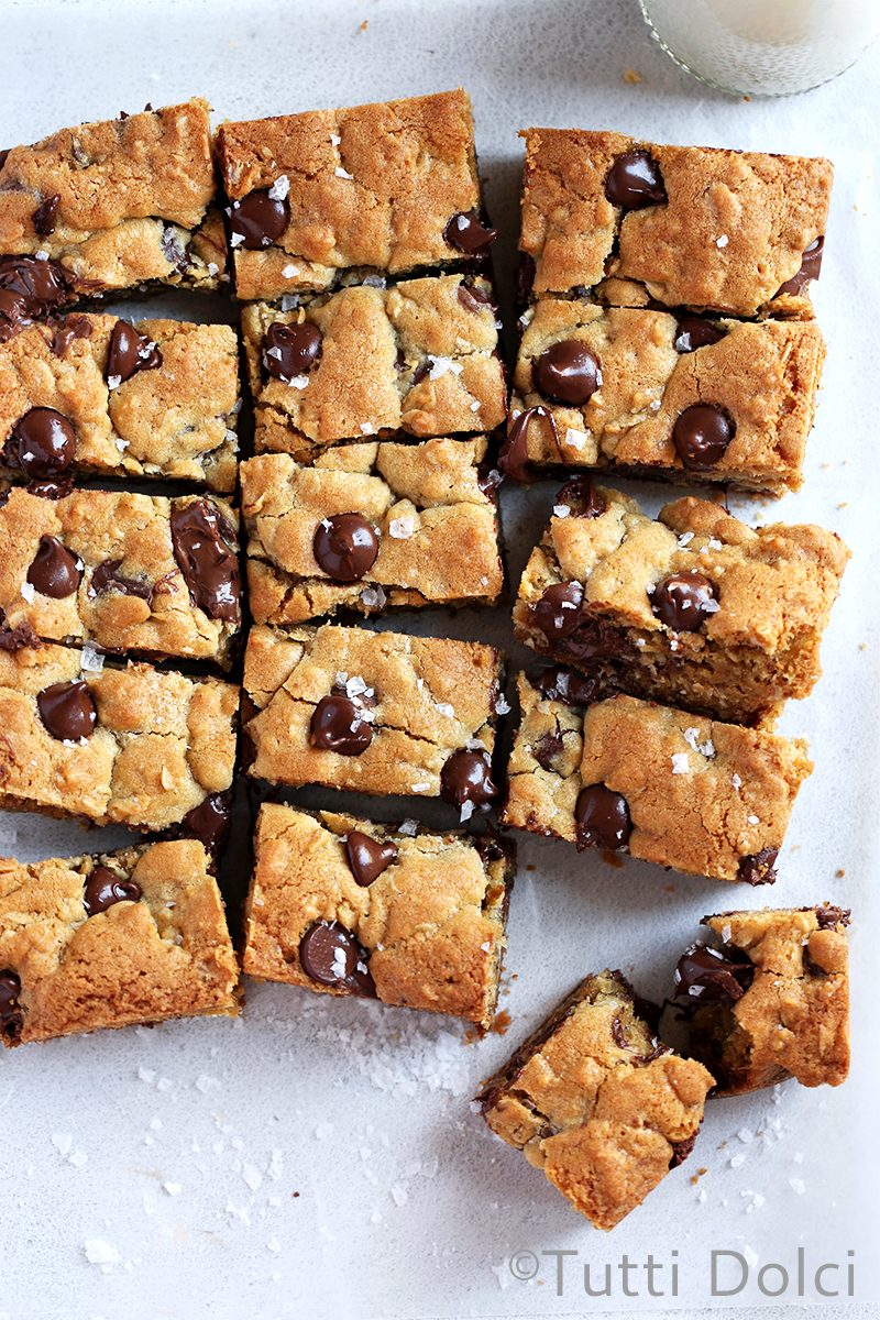 Chocolate Chip Nutella Cookie Bars