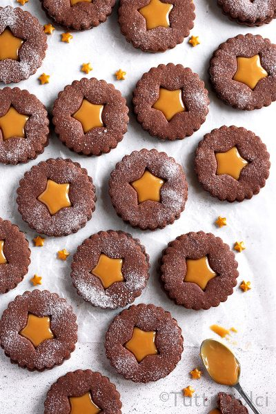 Chocolate Dulce de Leche Sandwich Cookies