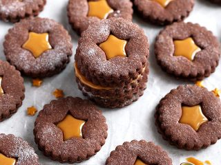 Chocolate Dulce de Leche Sandwich Cookies
