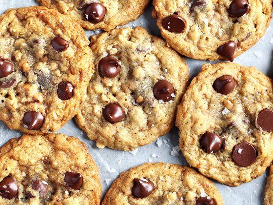 Chocolate Toffee Oatmeal Cookies