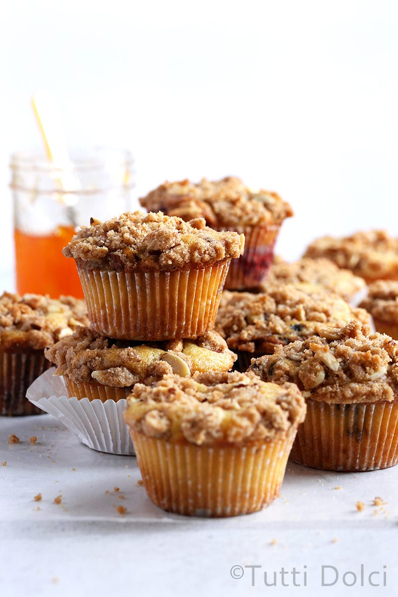 Jam Filled Crumb Topped Coffee Cake Muffins
