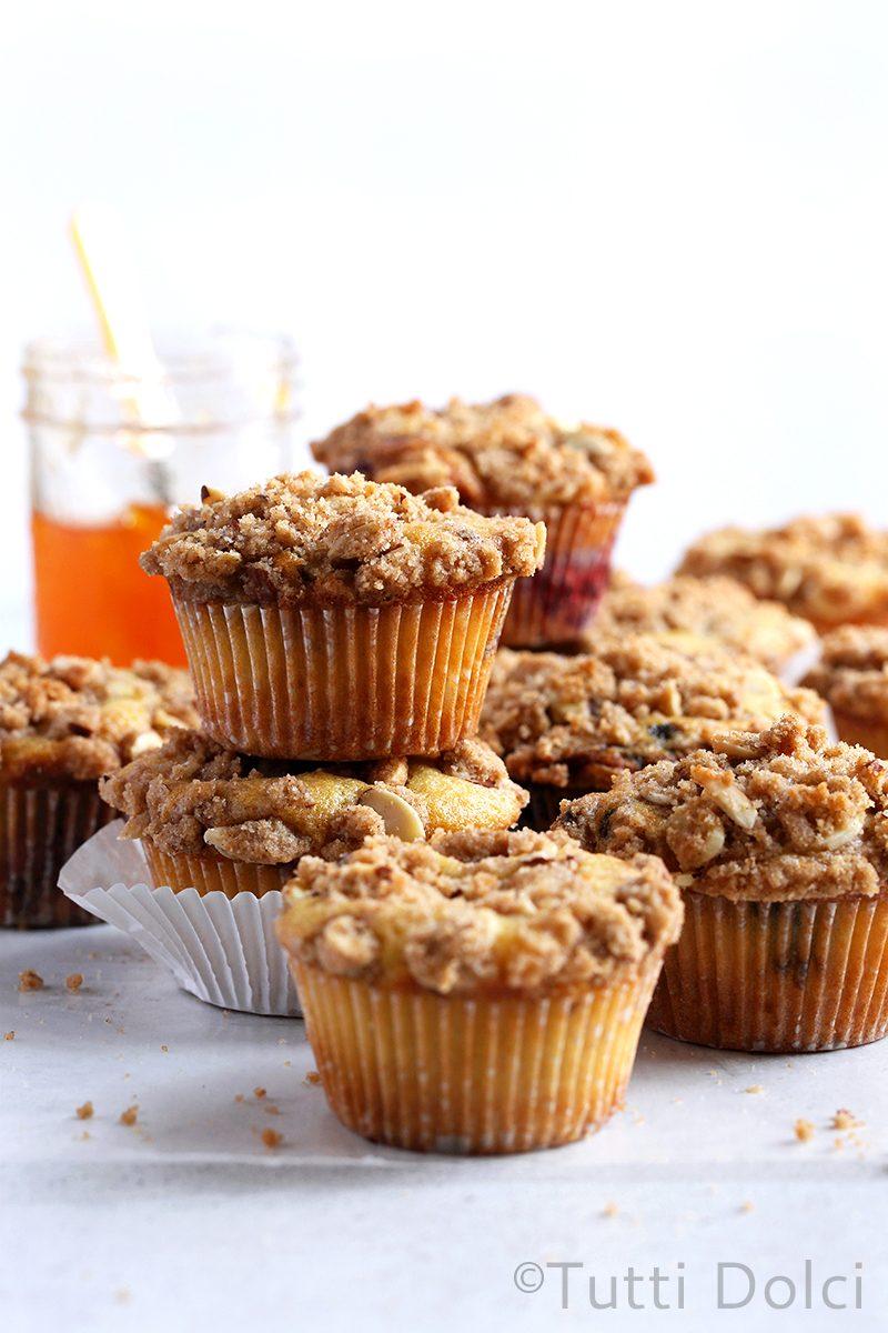 Jam Crumb Muffins
