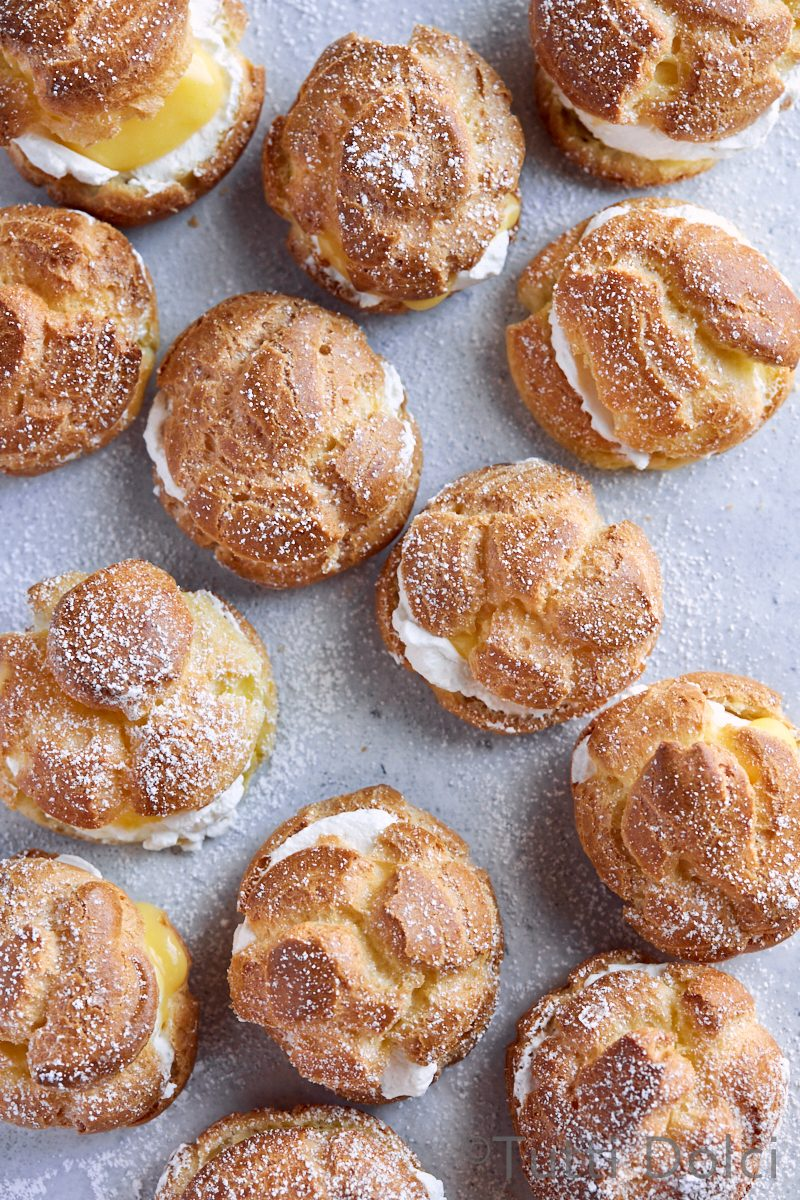 Meyer Lemon Cream Puffs