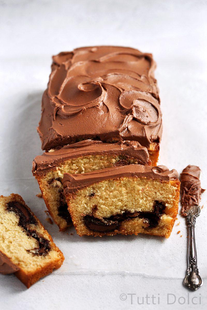 Nutella Swirl Loaf Cake