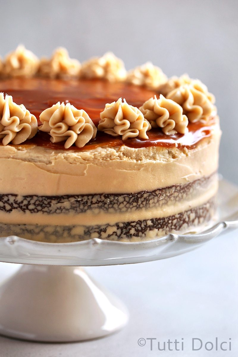 Salted Caramel Cappuccino Chocolate Cake